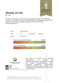 Quality of Life Self Test
